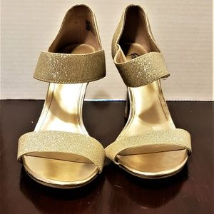 Sparkly gold heels- Prom- Evening Wear- Wedding